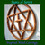 Details of carving on the Encircled Messianic Star and Cross wall hanging by Signs of Spirit; Standard size.