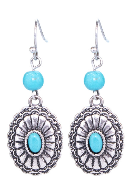 Turquoise/Silver Dangle Earrings SUZIEQ