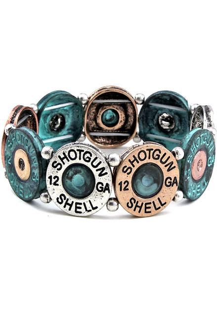 Shotgun Shell Multicolor Stretch Bracelet