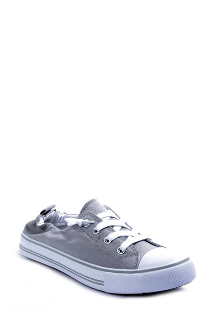 Light Grey Slip on Sneaker with Laces