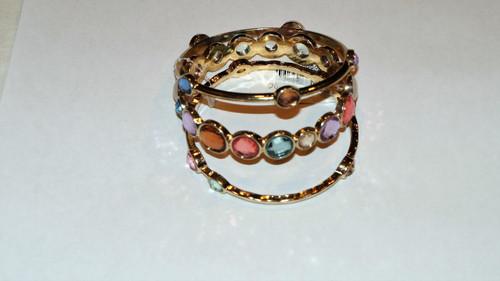 Multi Bangle Gemstone Bracelet