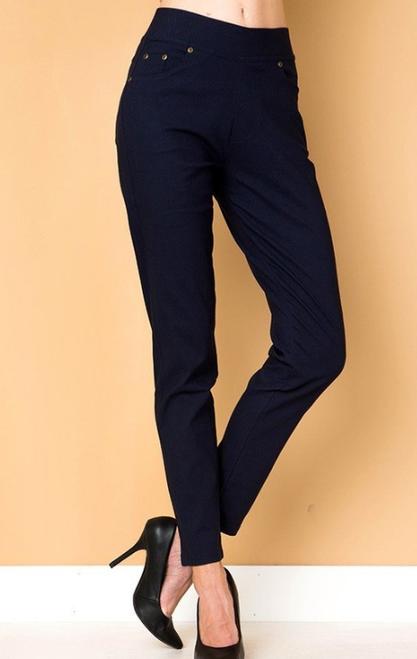 PLUS Twill 5 Pocket Pull On Skinny Pant in Black