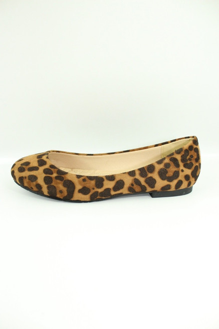 Leopard Suede Flat