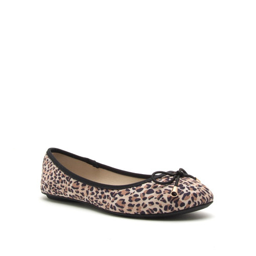 Leopard Print Flat with Bow Tie