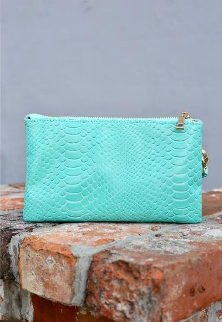 Turquoise Snake Liz Crossbody Bag