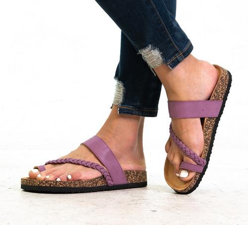 Purple Slip On Sandal