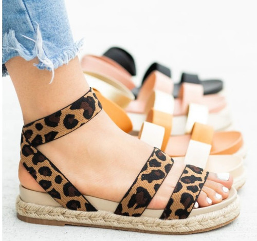 Leopard Strappy Sandal