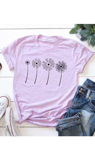 Lilac Dandelion Tee
