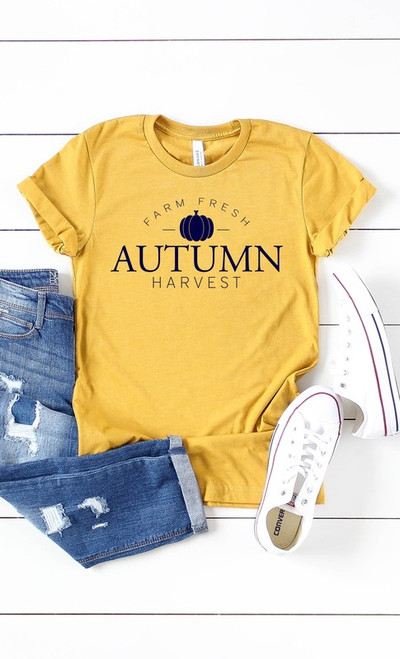 Autumn Harvest Tee in Mustard