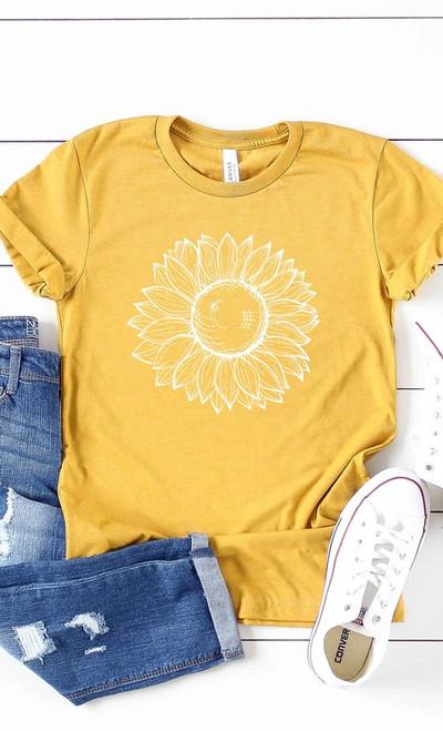 Mustard Sunflower Graphic Tee
