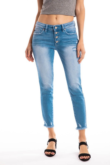 Kancan Button Fly Skinny Ankle 8569