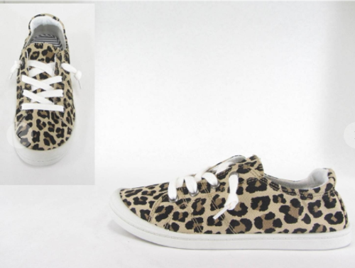 Leopard Sneaker with Laces