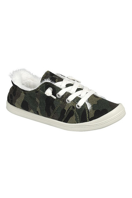 Camo Slip On Sneaker with Laces