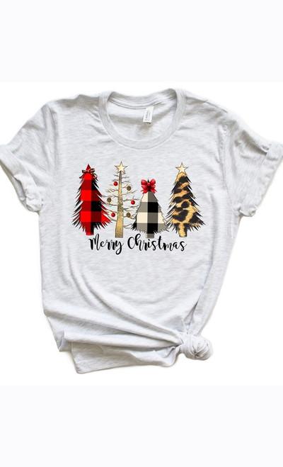 Ash Gray Merry Christmas Plus Tee