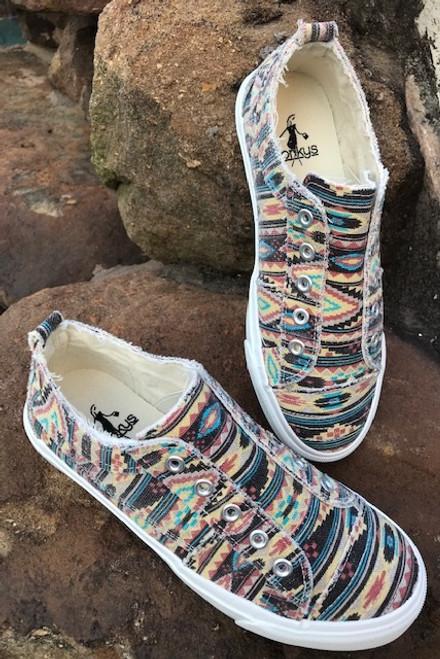 Corkys Pink Aztec Sneaker