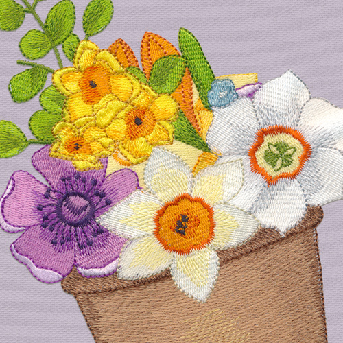 Spring designs for embroidery