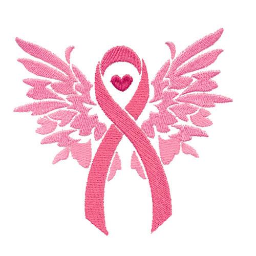 Pink Ribbon Winged 12797-02