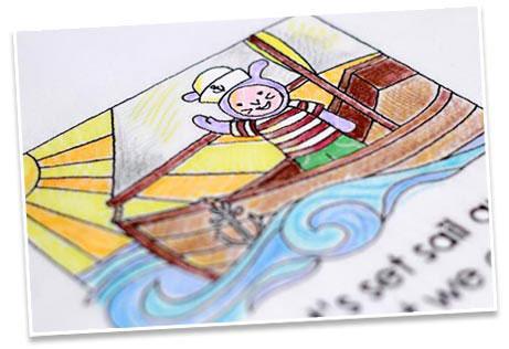 Adventures on the Sea Keepsake Coloring Book