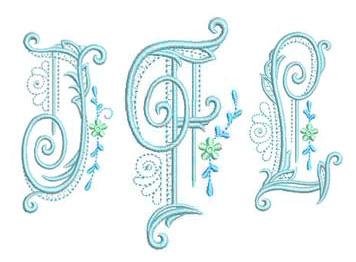 machine embroidery monogram