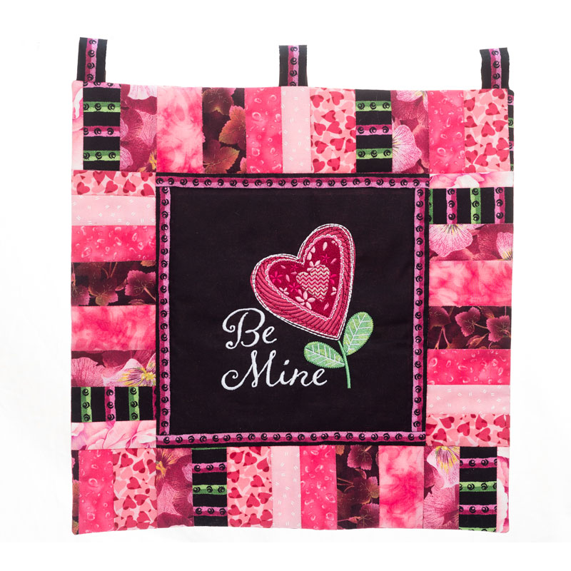 Be Mine Wall Hanging Machine Embroidery Project by Velvet Lime Girls
