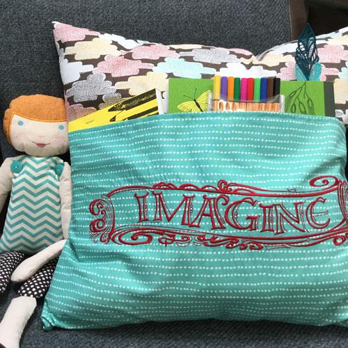 Zenspirational Scrolls Reading Pillow