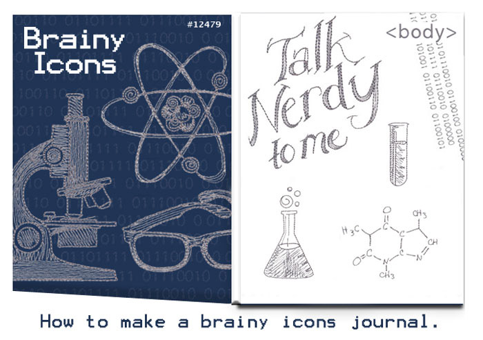 How to make a brainy icons journal cover
