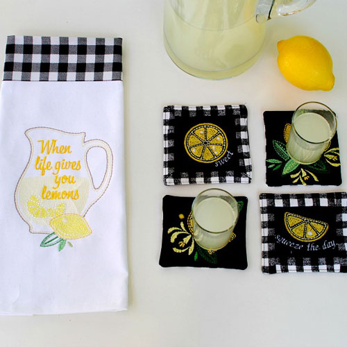 DIY Embroidered Coasters