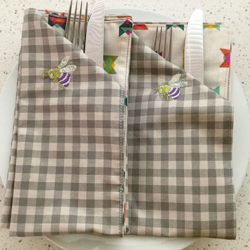 Reversible Napkins Embroidery Project