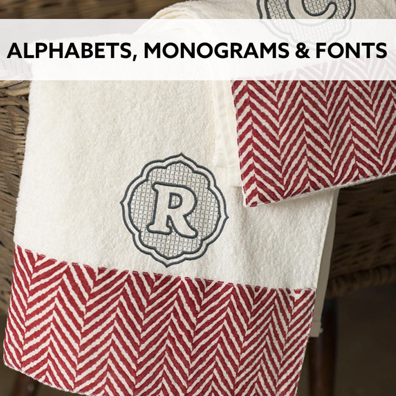 Alphabets Monograms & Fonts