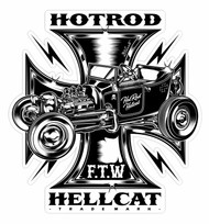 Hotrod HellCat workershirts and baby accessories