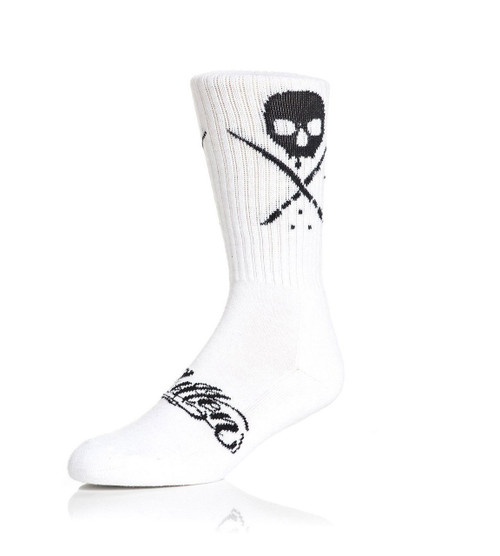 Sullen Standard Issue Socks White/Black  SOCKS-SLN-WHTBLK