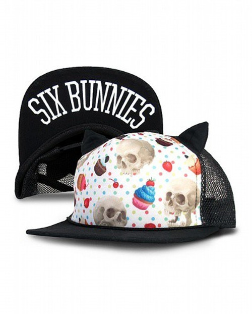 Six Bunnies Cupcake Skull Kid's Cap