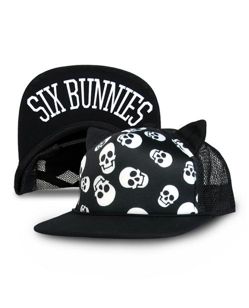 Six Bunnies Polka Skull Cap  SB-CAP-00060