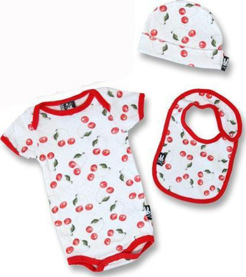 Six Bunnies Cherries Baby Gift Set