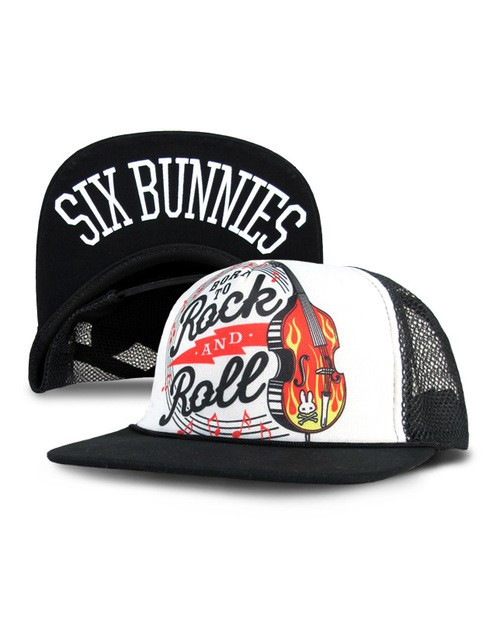 Six Bunnies Born To Rock And Roll Kid's Cap