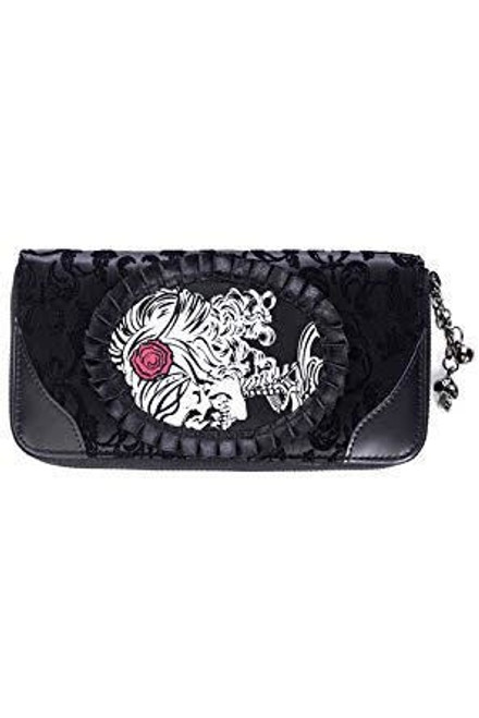 Banned Ivy Black Cameo Lady Lace Wallet