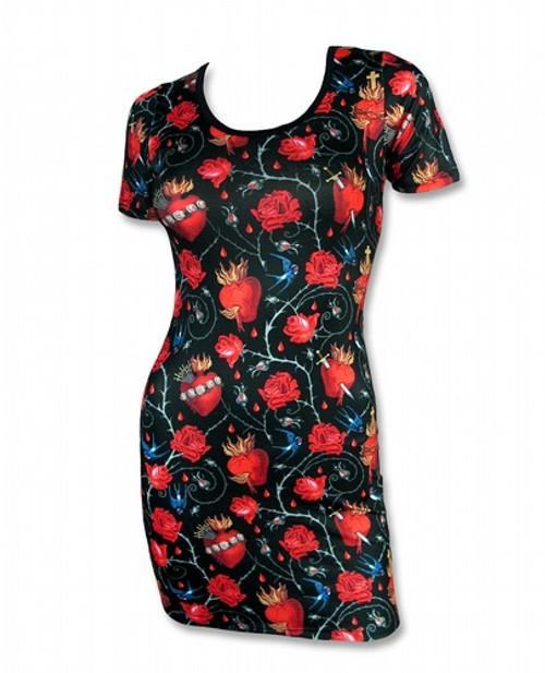 Liquor Brand Sacred Hearts Dress  LB-DRE-00103