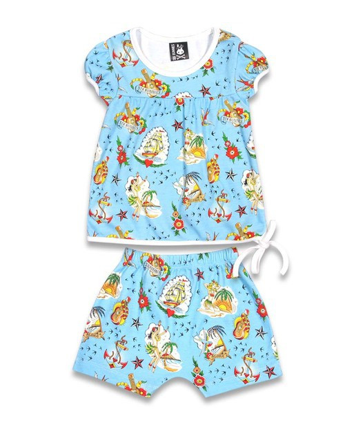 Six Bunnies Aloha Sailor Pyjama Set