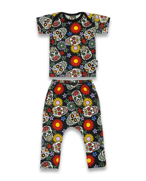 Six Bunnies Sugar Skull Pyjama Set