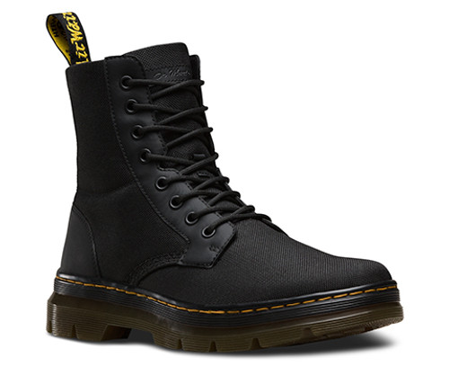 Dr. Martens Comb Black Extra Tough Nylon + Rubbery  DR-16607001