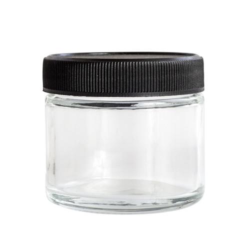 Kanna Signature Clear 2 Oz Glass Jar  KS-CLEAR-2