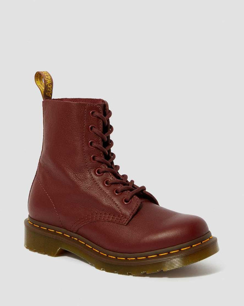 Dr. Martens Women's 1460 Pascal Cherry Red Virginia