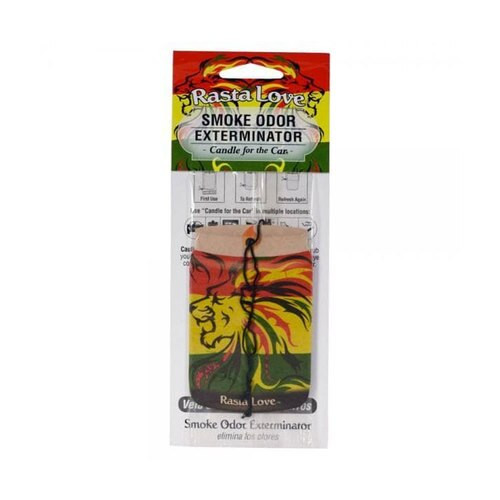 Smoke Odor Exterminator Car Freshner Rasta Love
