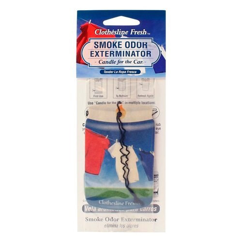 Smoke Odor Exterminator Car Freshner Clothesline Fresh