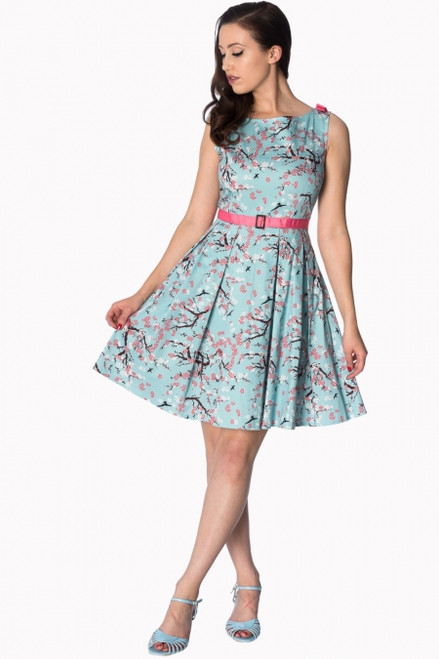 Banned Oriental Blossom Bow Shoulder Dress  DR-5479