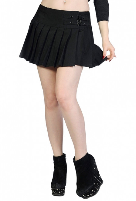 Banned Plain Black Mini Skirt  SBN-216A