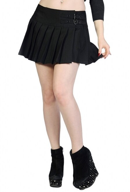 Banned Plain Black Mini Skirt
