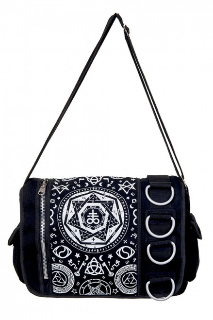 Banned Pentagram Black Messenger Bag  BBN-790