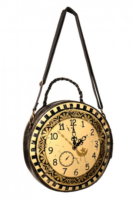 Banned Clock Circular Round Bag  BBN-722