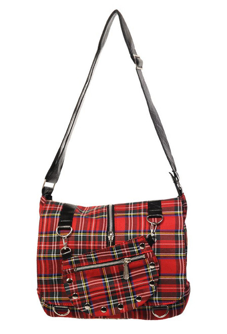 Banned Tartan Messenger Bag  BBN-731